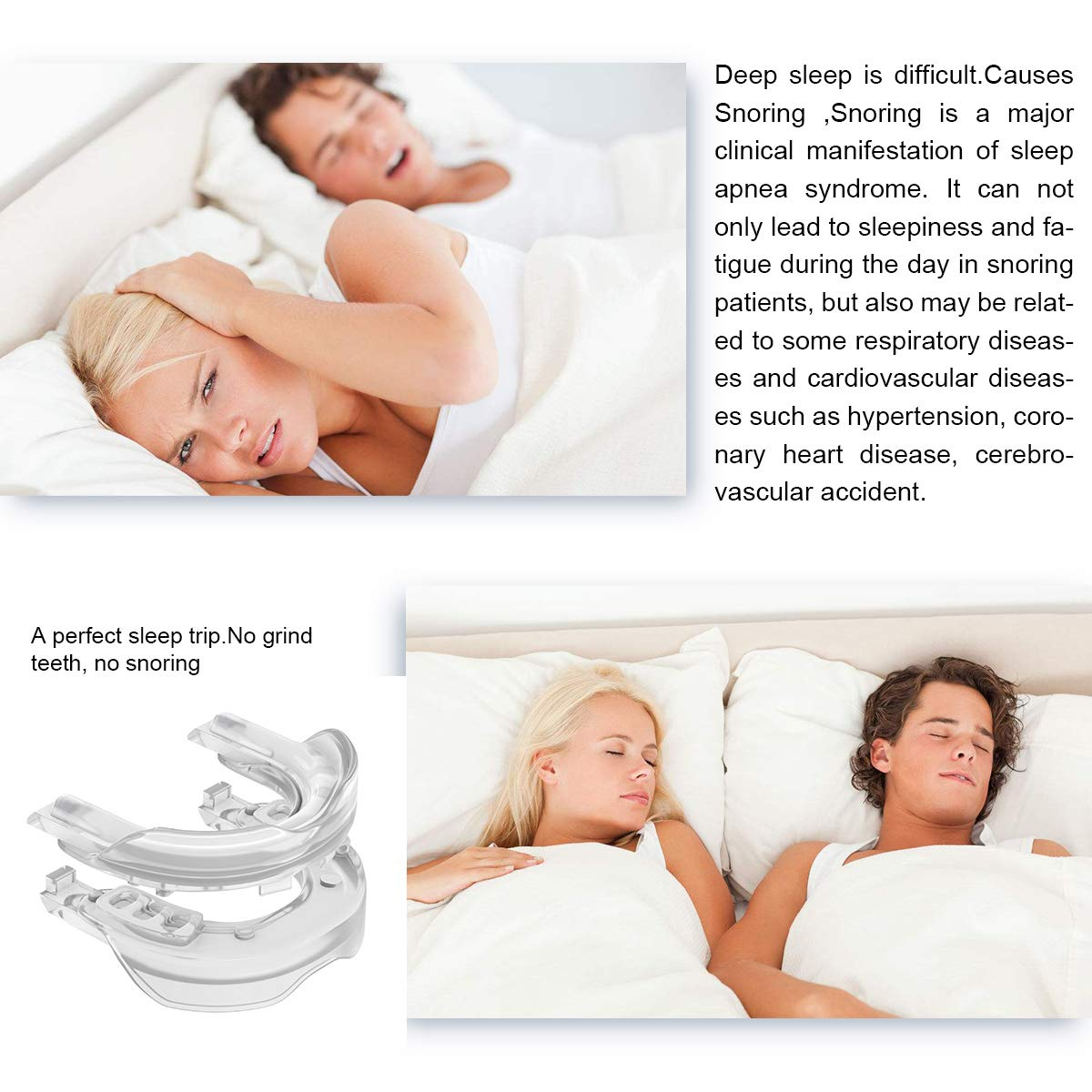 Snore Stopper for Men and Women| Stop Snoring | Flexible, Hygienic, Easy to Use | Home and Travel Sleep Aid