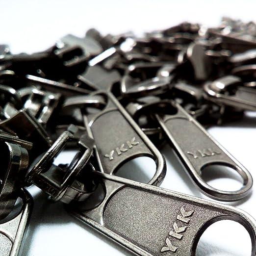 YKK #5 Vislon Bottom Slider Zipper Pull Hardware Black 10 Pack