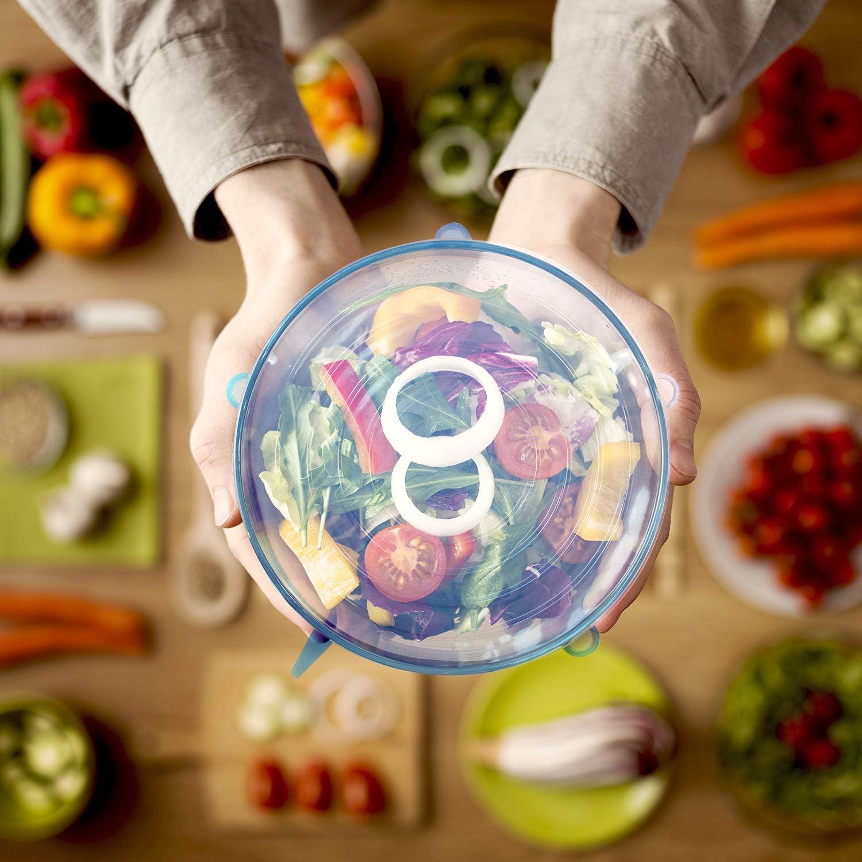 Whxscsm Coperchi elasticizzati per alimenti riutilizzabili antipolvere Ananas in cotone con fascia elastica per ciotole e piatti