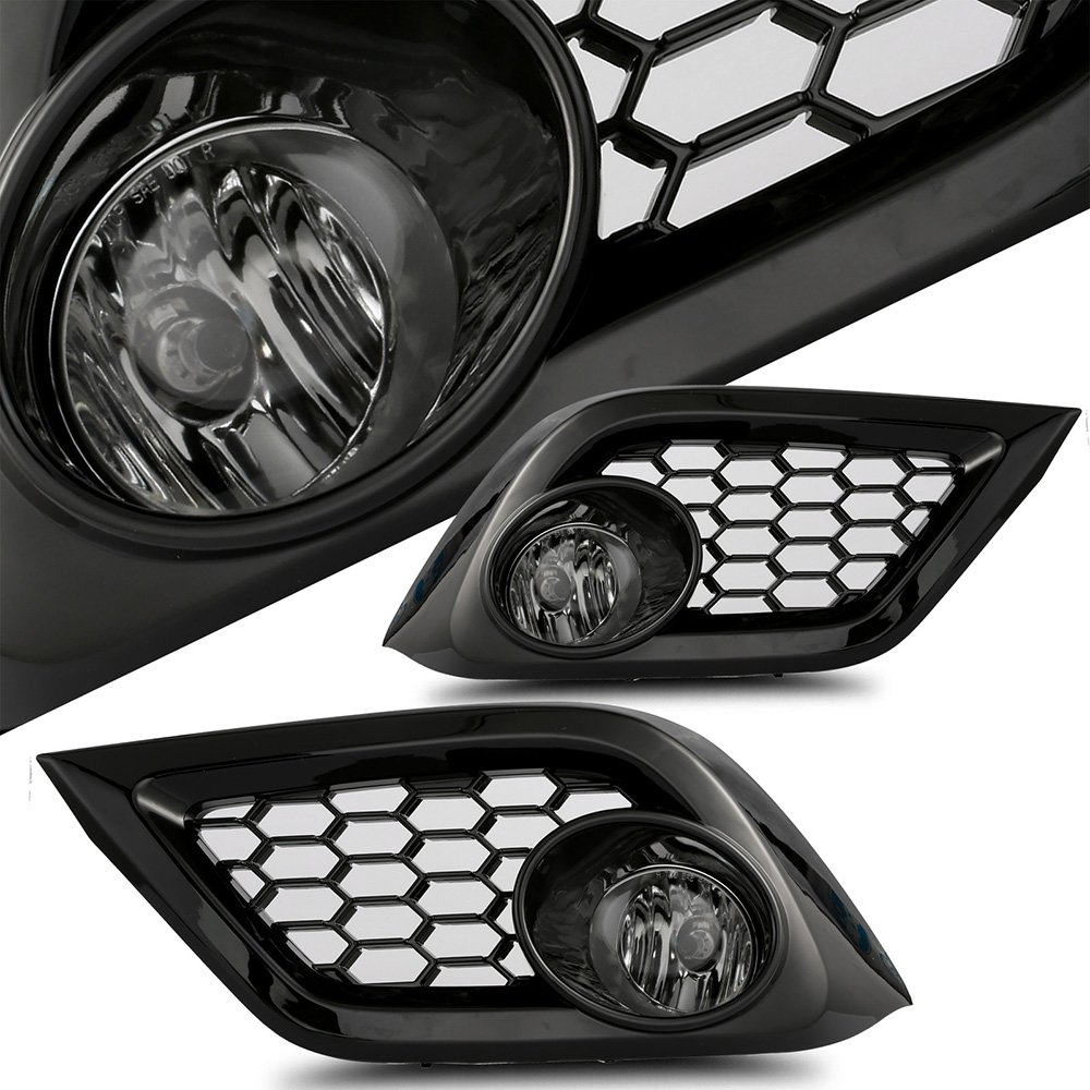 Packaged Smoke Lens Black House Fog Light Assembly 2016 Scion IM Pair Set SCITOO 122328-5206-1337195101