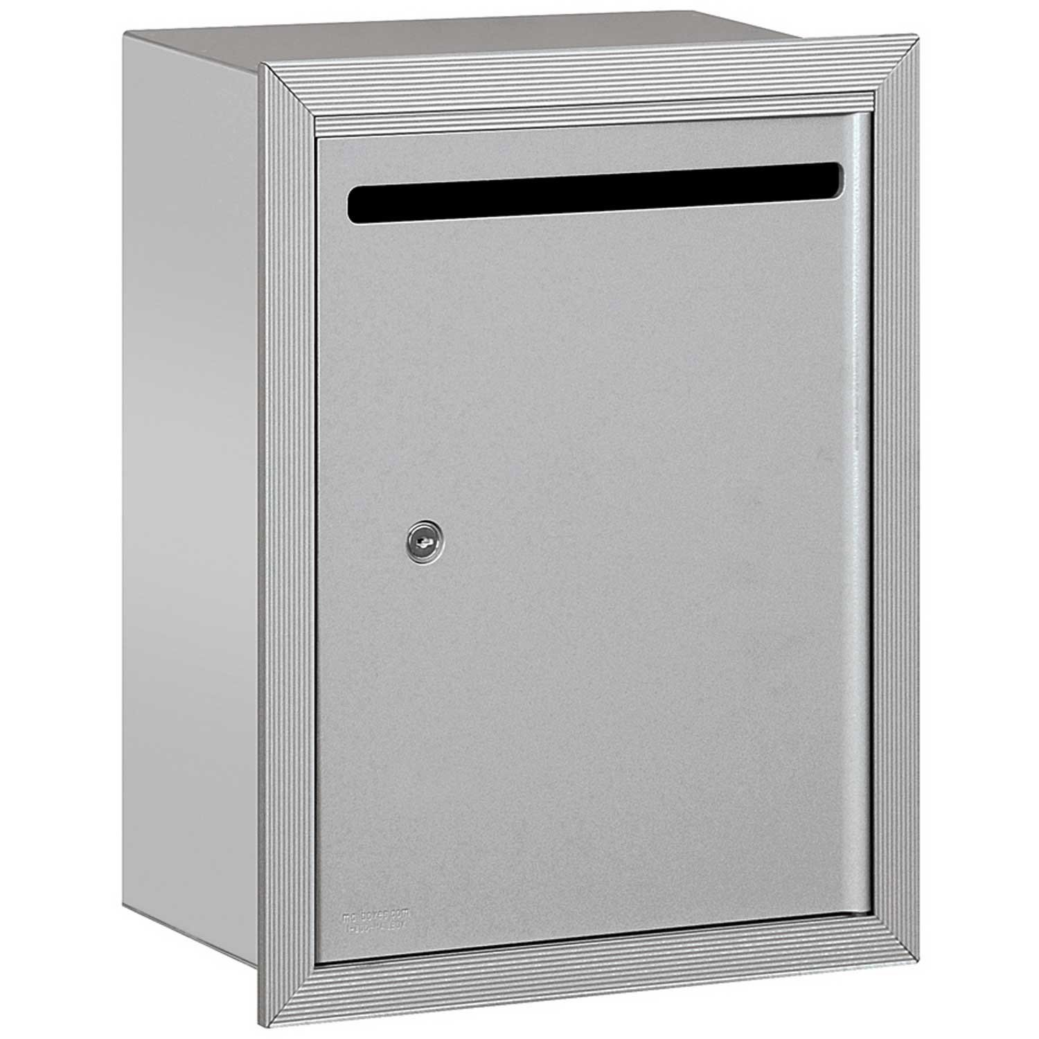 Salsbury Industries Letter Box, 15''Wx6-3/4''Dx19''H Standard Recessed Mounted Aluminum Private Access