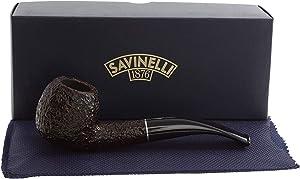 Savinelli Italian Tobacco Smoking Pipes, Tre Rusticated 626