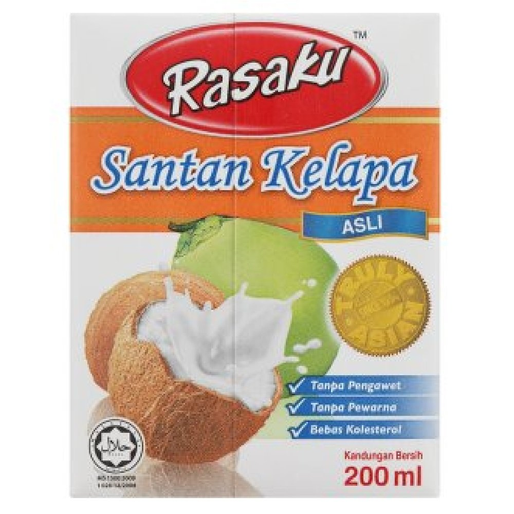 Rasaku Original Coconut Milk 200ml (628MART) (12 Packs) by Rasaku (Image #1)