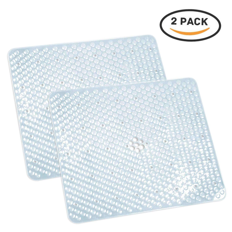 Xiyunte –  Tappetino per lavello cucina scolapiatti 39 * 31 cm anti blocco tappetino scolapiatti, filtro per lavello in plastica PVC, trasparente (confezione da 2) 39 * 31cm Trasparente