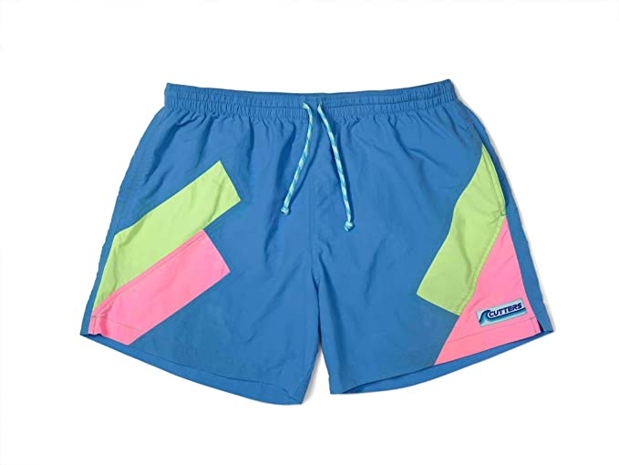 Vintage Men's Swimsuits – 1930s to 1970s History Cutters Apparel Mens Retro Swim Trunks Surf Board Shorts with Mesh Lining $55.99 AT vintagedancer.com