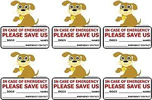 SecurePro Products - 6 Dog Pet Rescue Window Door Sticker Decals, Size - 4