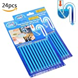 Clean Sticks 24 Pcs Sewer Detergent Stick Keeps Drain Pipeline Clean Toilet Sewer Odor Free Sink Sticks for Smell As Seen on TV by Jeantan (Blue)