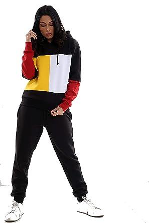 Parsa Fashions - Chándal - para Mujer Negro Black-Yellow XL ...