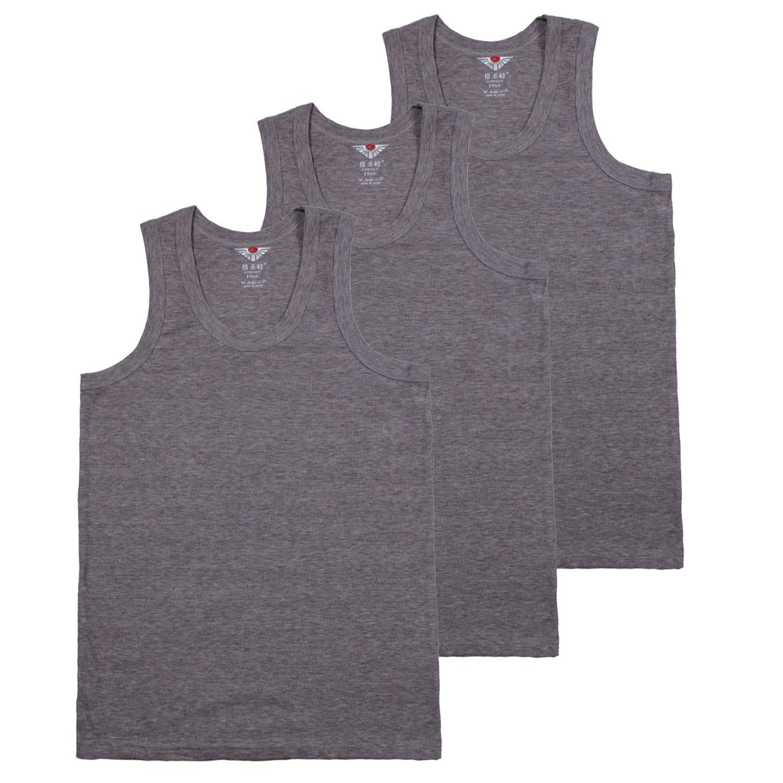 Godsen Men's 3 Pack A-Shirt Tank Tops Sport Athletic Undershirts GNA004-3pc