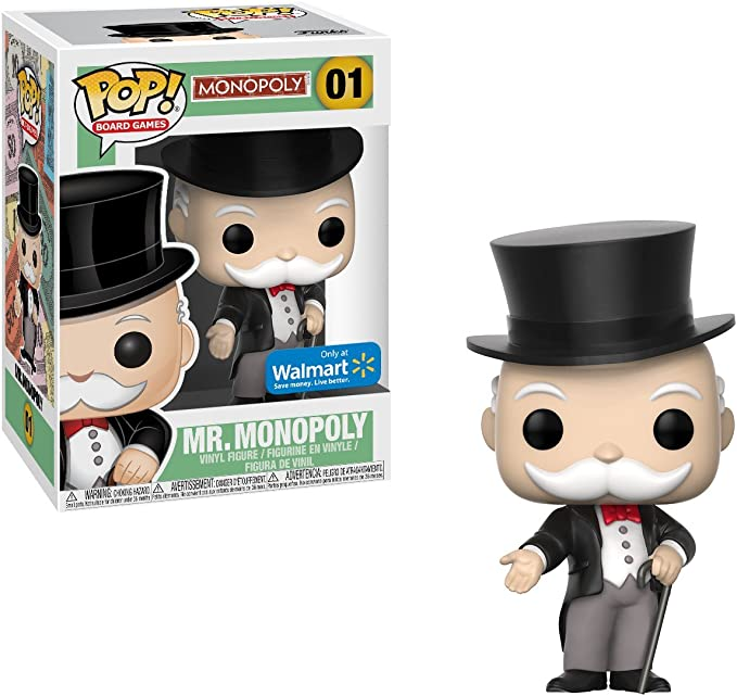 Funko Pop! Vinile Mr PennyBags Monopoly Figure USA Exclusive e molto difficile da trovare: Amazon.es: Juguetes y juegos