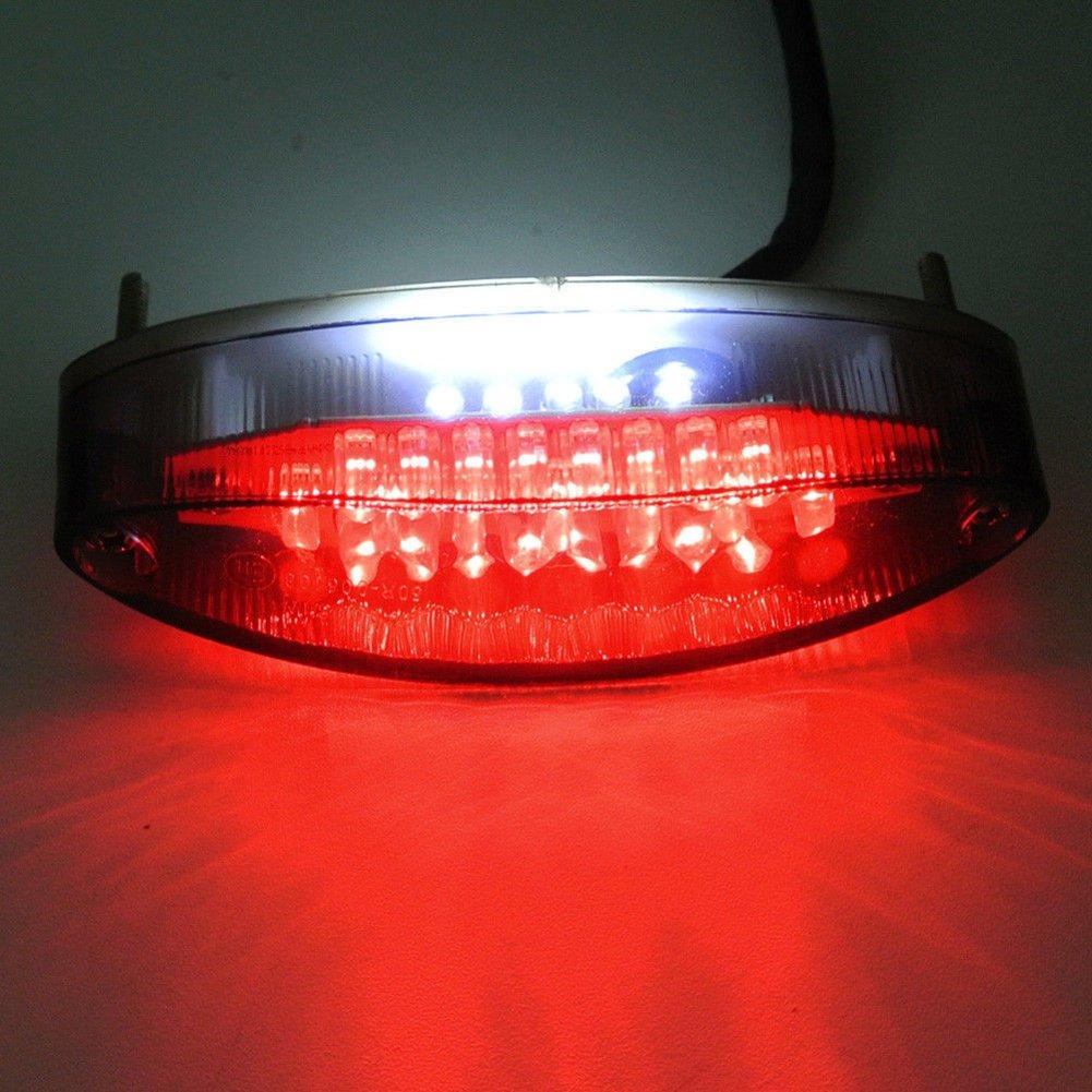 YouN 28/LED moto ATV Dirt bike freno stop running Tail Light universale 12/V