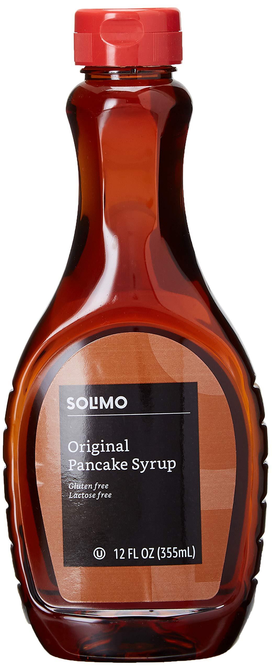 Amazon Brand - Solimo Pancake Syrup, Original Flavor, 12 ounces