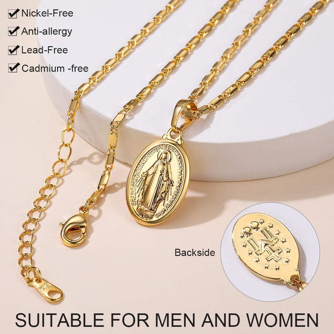 GoldChic Jewelry Collar Mujer Medalla Virgen Milagrosa Regalo Navidad Cumplea/ños