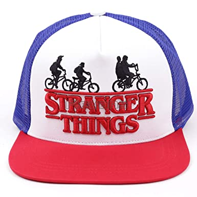 Stranger Things Dustin Cap Hat Summer Cool Mesh Trucker Caps Men Boy  Adjustable Cotton Hip Hop bcf286c1dd87