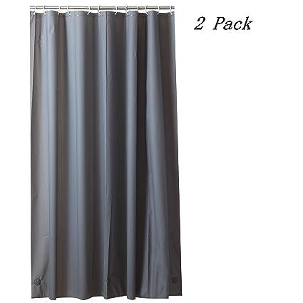 Suofute PEVA 8G Shower Curtain Liner PACK Of 2 MOLD MILDEW Resistant