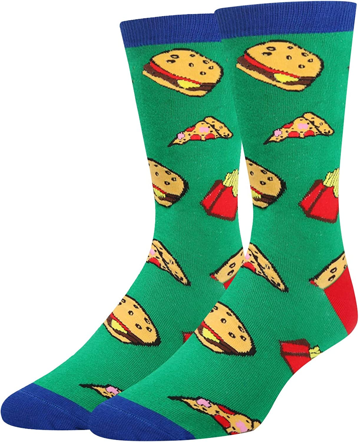 Zmart Men's Funny Taco Bacon Pineapple Donut Socks Crazy Cool Food Lover Gift