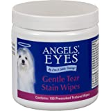 Angels' Eyes Gentle Tear Stain Wipes for Dogs - 100 Ct - Presoaked Textured