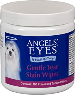 product image for Angels' Eyes Gentle Tear Stain Wipes for Dogs - 100 Ct - Presoaked Textured