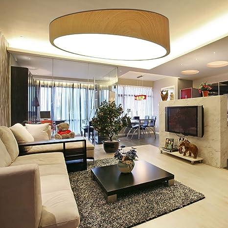 TiptonLight Wooden Ceiling Light With White Light Geometric Creativity 16  Inch LED Round Ceiling Light Modern