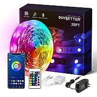 DAYBETTER SMD 5050 App Control Led Strip Lights- 25ft