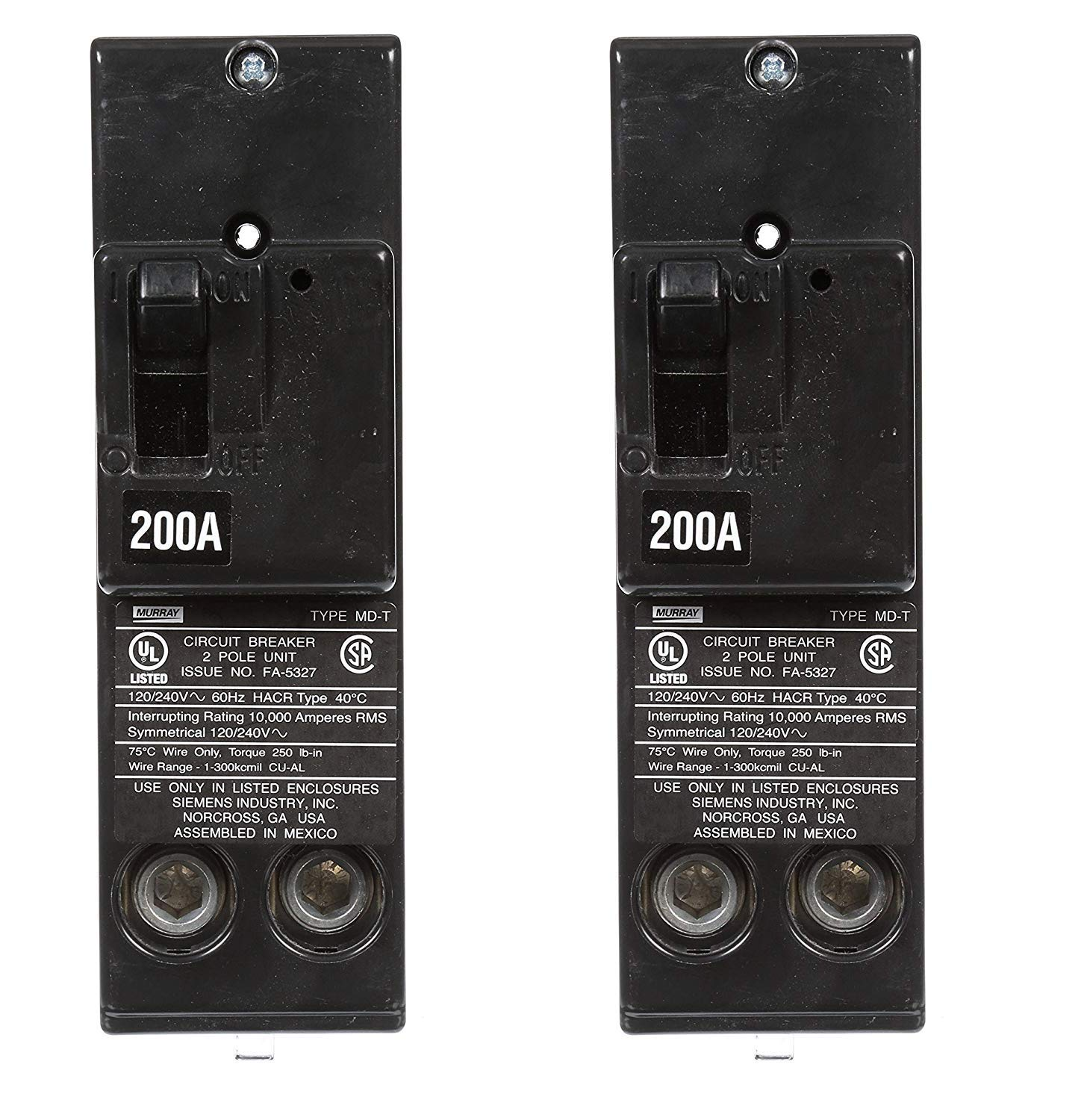 Murray MPD2200 200-Amp 2 Pole 240-Volt Circuit Breaker