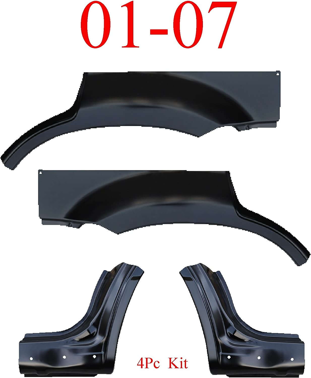 01-07 Escape 4Pc Dog Leg /& Arch Panel Set