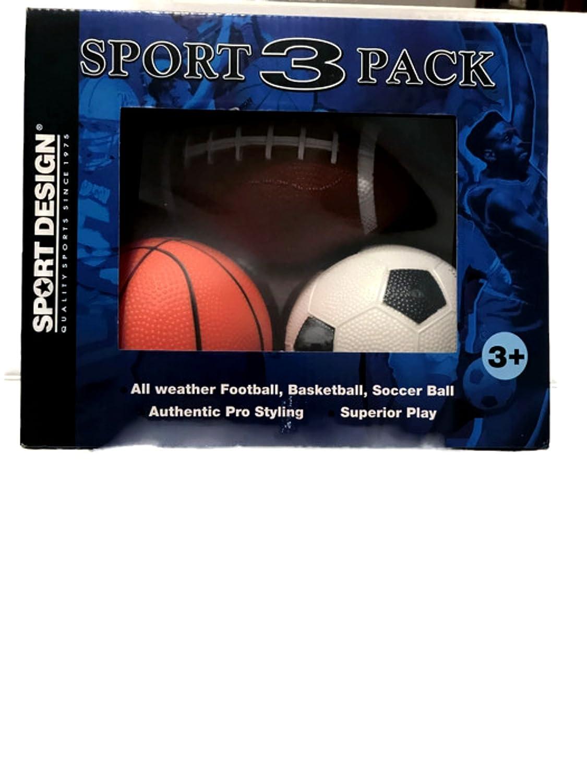 Perfecto Tamaño Niños 3 Pack – Juego de Pelota (fútbol, baloncesto ...
