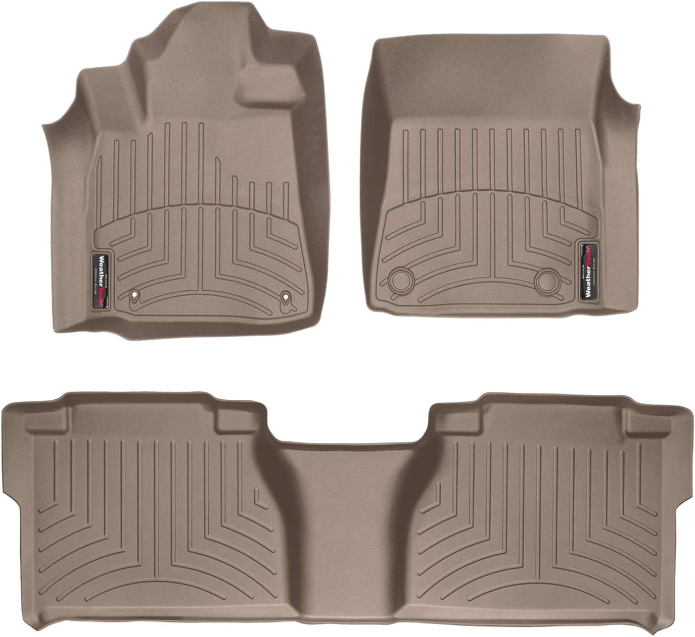 WeatherTech Custom Fit Rear FloorLiner for Toyota Tundra Double Cab Tan