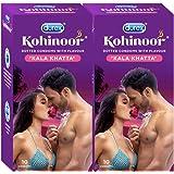 Durex Kohinoor Condoms - 10 Count (Pack of 2, Kala Khatta)