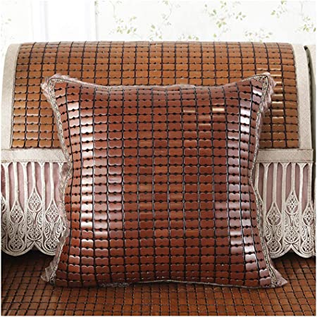 Cool Bamboo Mat Throw Pillow Case Sofa
