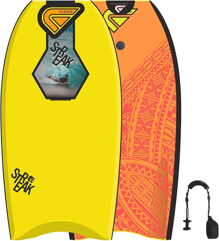 Flood Bodyboard Strie 42 Jaune Orange Maori