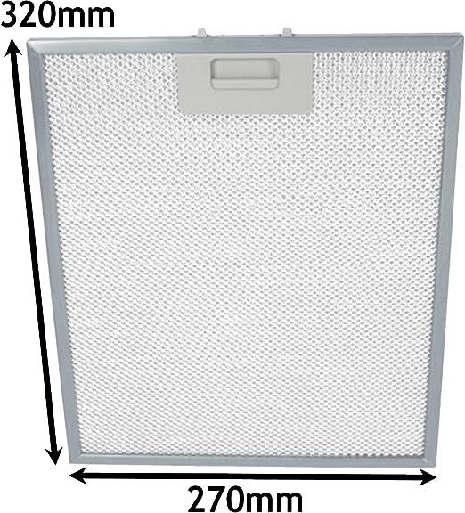 Spares2go Filtro de grasa de malla de metal para campana extractora de ventilación para horno Logik L90CHDX (320 x 270 mm): Amazon.es: Hogar