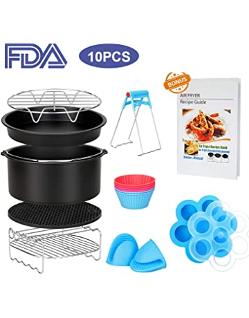 10 Pcs Air Fryer Accessories with Recipe Cookbook for Growise Phillips Cozyna Fits All 3.2QT
