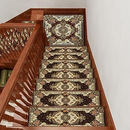 ZZHF Escalera de escalera desmontable europea / Escaleras de madera maciza Alfombra / Escalera autoadhesiva / Felpudo rectangular antideslizante (Un paquete de 1) alfombras de habitacion (Color : J , Tamaño : 26*75cm) : Amazon.es: Hogar
