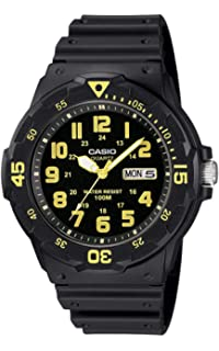 Casio Mens MRW-200H-9BVDF Sports Analog Dive Quartz Black Watch
