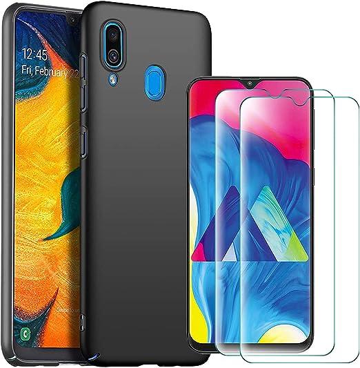 Abbeen Samsung Galaxy A30/A20 Coque et 2 Pack de Protection d'écran en Verre Trempé [Ultra Mince] [Anti-chute] Coque hybride pour Samsung Galaxy ...
