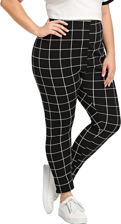 Milumia Womens Plus High Waist Slim Fitted Comic Print Fashion Sporty Leggings