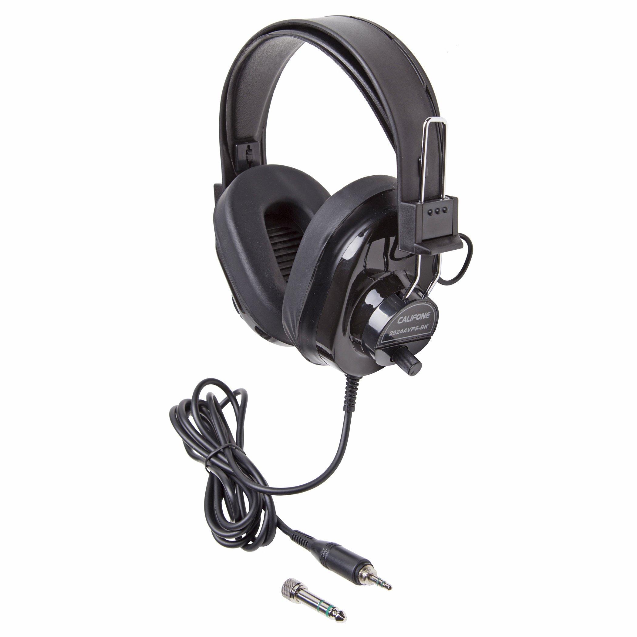 Califone CAF2924AVPSBK Deluxe Stereo Headphone, Black