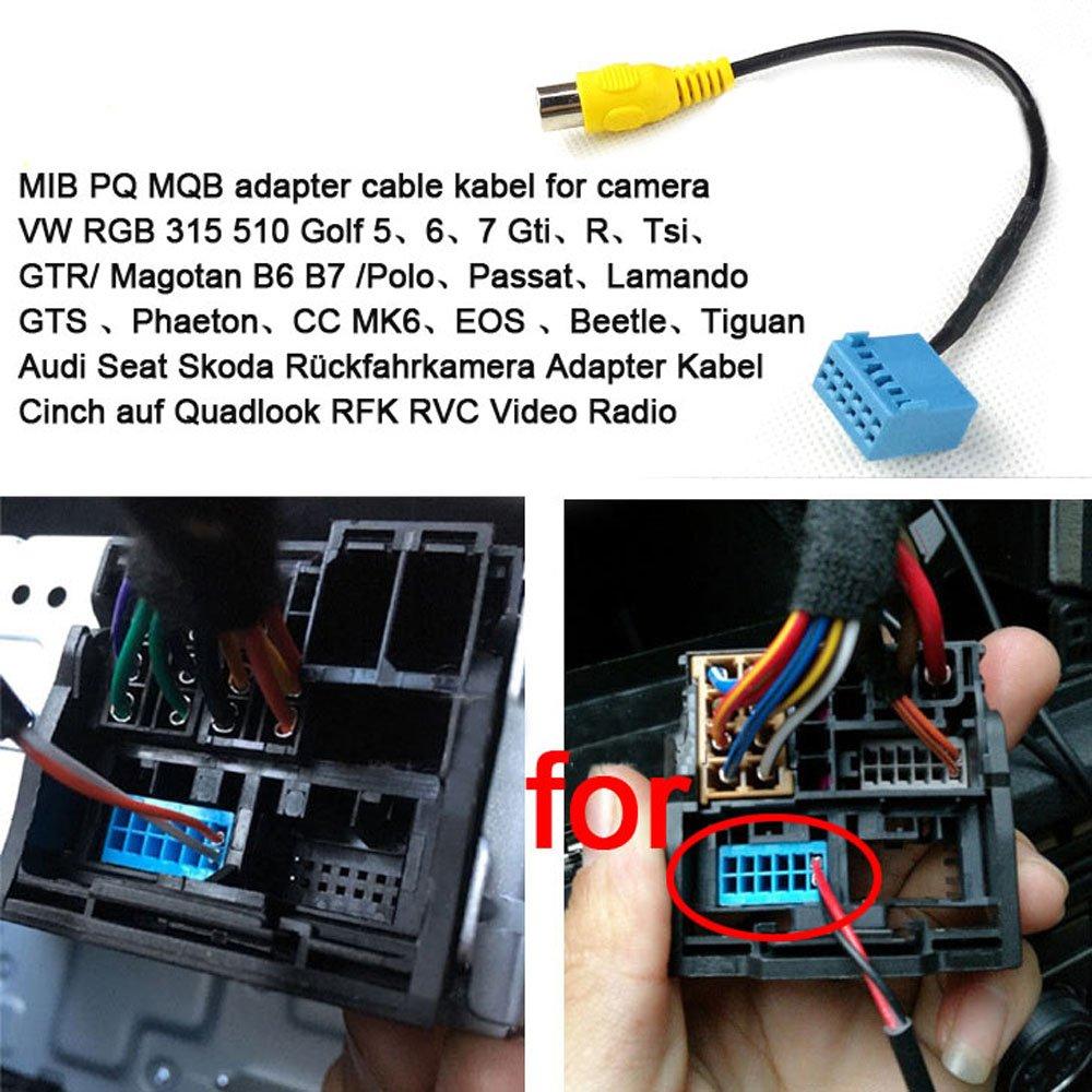 RNS 315 510 RCD 510 Kit de cam/éra de recul avec c/âble RVB 7 m