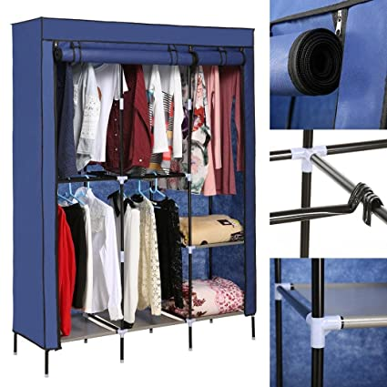 Good Etuoji New Detachable Freestanding Wardrobe DIY Clothes Closet Portable  Wardrobe Clothes Storage Rack With Shelves Fabric