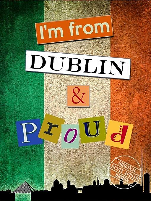 Cartel de Metal con Texto en inglés Im from,Dublin & Proud ...