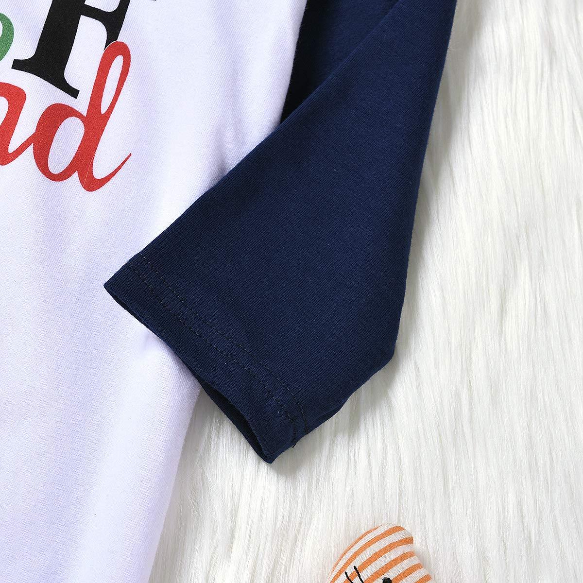 puseky Parent-Child Dad Mom Baby Kids Family Matching Christmas Pajamas Sleepwear Homewear Set