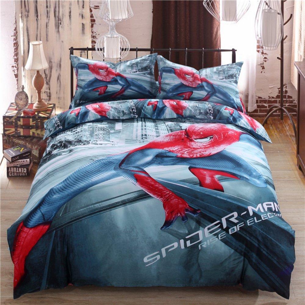 Amazon.com: Spiderman Bedding Set Twin Queen King Size Comforter ...