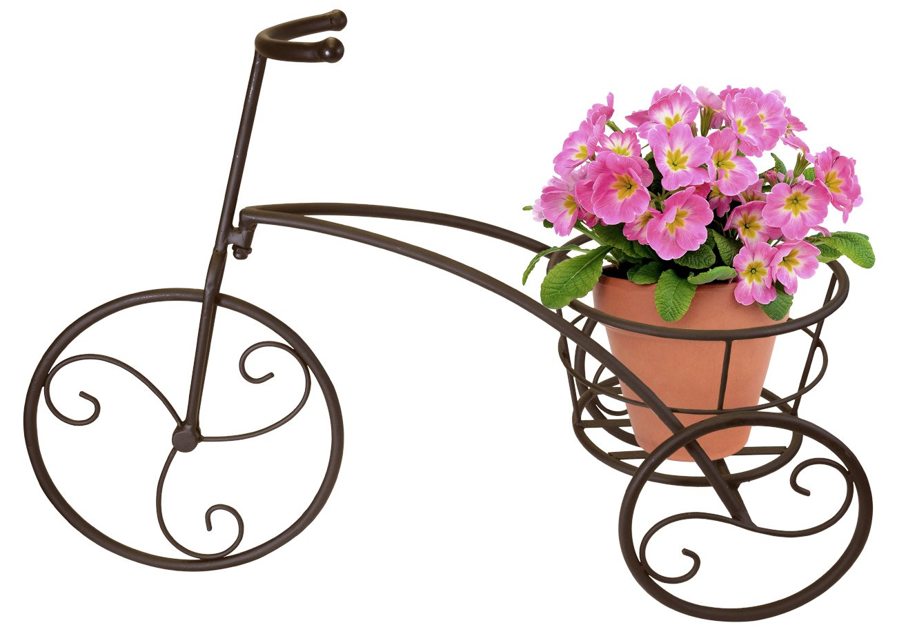 Sorbus Tricycle Plant Stand - Flower Pot Cart Holder - Ideal for Home, Garden, Patio - Great Gift for Plant Lovers, Housewarming, Mother's Day - Parisian Style (Single Pot, Bronze) by Sorbus (Image #3)
