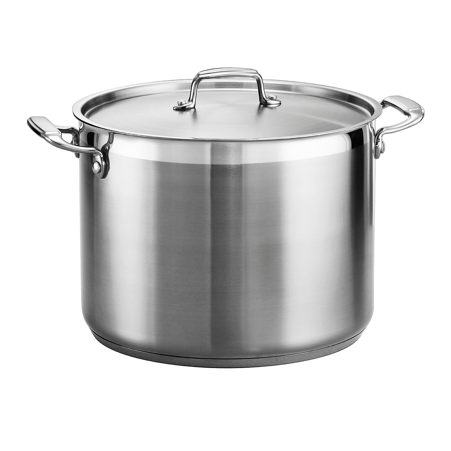 Tramontina 80120/001DS Tramontina Gourmet Stainless Steel Covered Stock Pot, 16-Quart