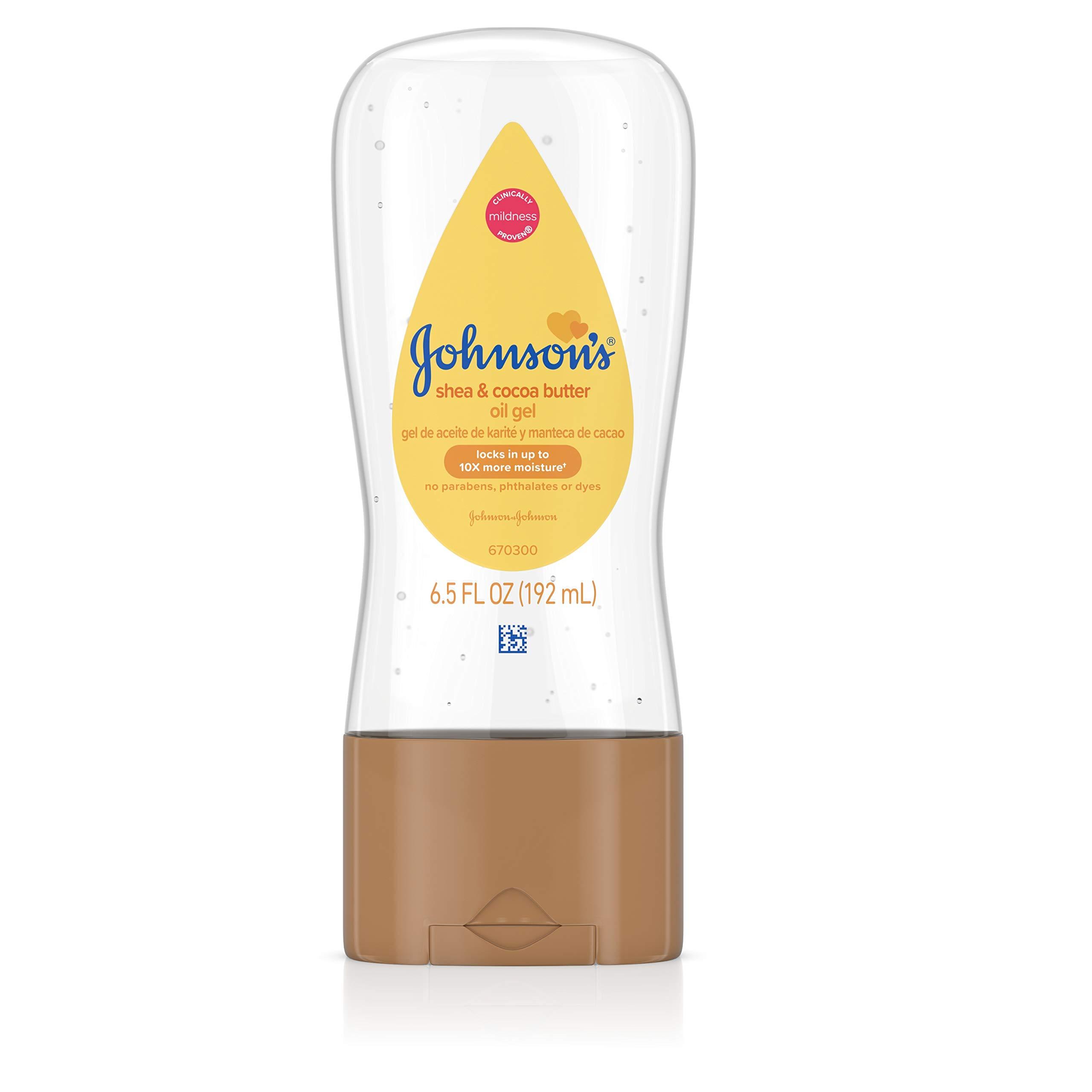 Johnson's Baby Oil Gel Enriched With Shea and Cocoa Butter, Great for Baby Massage, 6.5 fl. oz, Pack of 6 (Packaging May Vary)