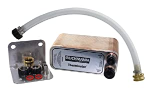 "Blichmann Therminator, Beer Wort Chiller, Stainless Steel, 1/2"" Male NPT Fittings, 3/4"" male garden hose threads, Includes Back Flush Hose Assembly"