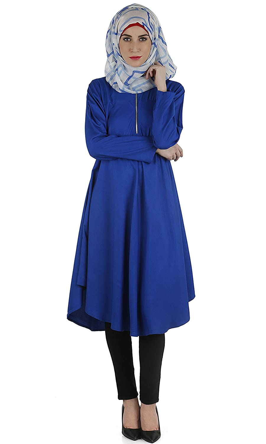 Modest Forever Flared royal blue tunic modestforever