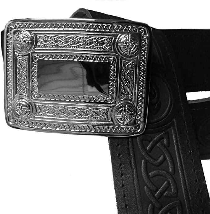 Mens Tartanista Scottish Thistle Embossed Leather Kilt Belt /& Buckle S 2XL