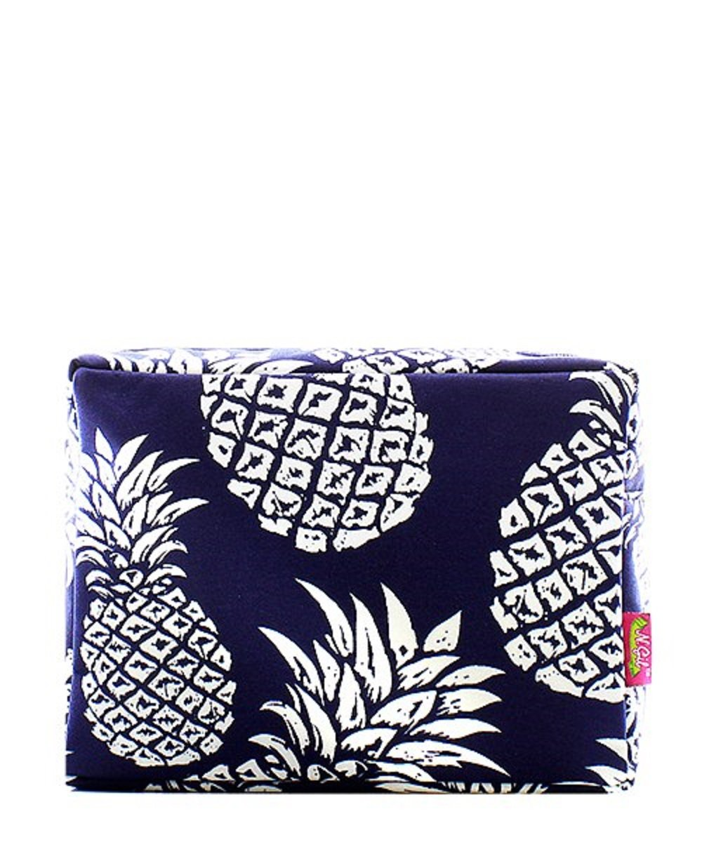 NGIL Pineapple Canvas Cosmetic Pouch Travel Bag